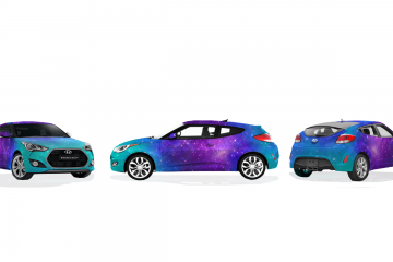 Galaxy Veloster Wrap